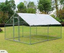 Large Metal Chicken Coop Run Walk in Cage Poultry Rabbit Hen Dog House