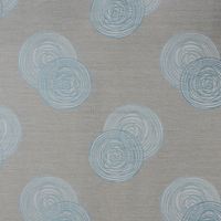 New arrival Circle design 250gsm thick Linen Like Jacquard 100% polyester Curtain fabric