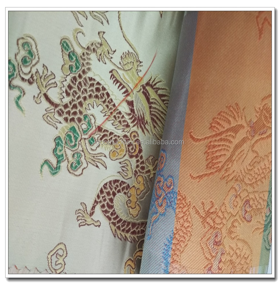 chinese traditional dragon designs brocade jacquard fabric