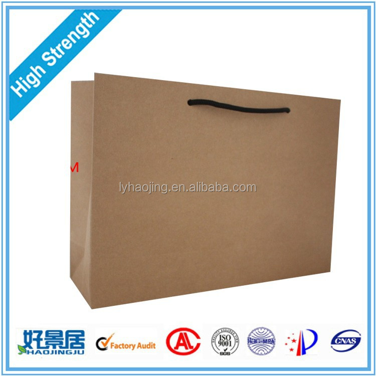 Drawstring Sealing & Handle kraft paper bag / Hot Sale Customized Paper Bag / Grocery paper Bag