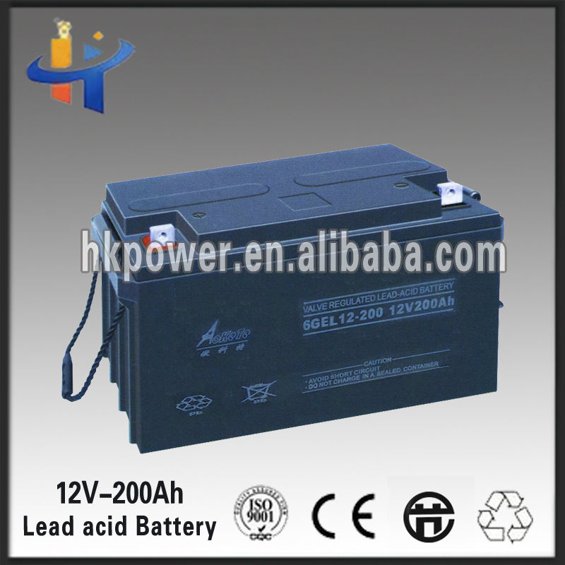 Good performance 12v 200ah dry charged lead acid battery
