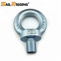 China Supplier High Strength Rigging Hardware Heavy Duty M24 Lifting Steel DIN580 Eye Bolt