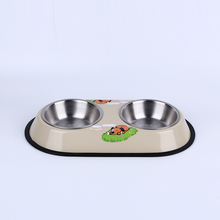 Cheap double diner pet bowl travel portable dog