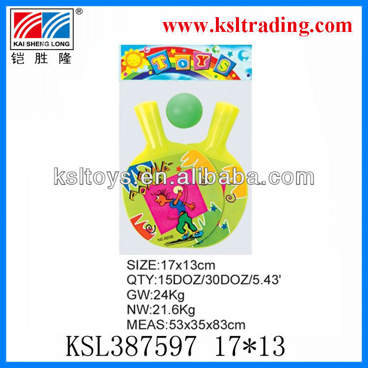 colorful plastic table tennis bat for kids