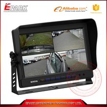 9 inch widescreen digital car monitor with digital panel, 4 screen quad monitor