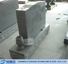 Customized size with vase chinese granite American tombstone