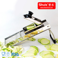 Pure Stainless Steel 304 Mandolin Slicer Vegetable Dicer Plus with 3 Blades