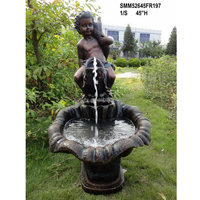 Fiberglass Garden Mermaid Water Fountain for Sale