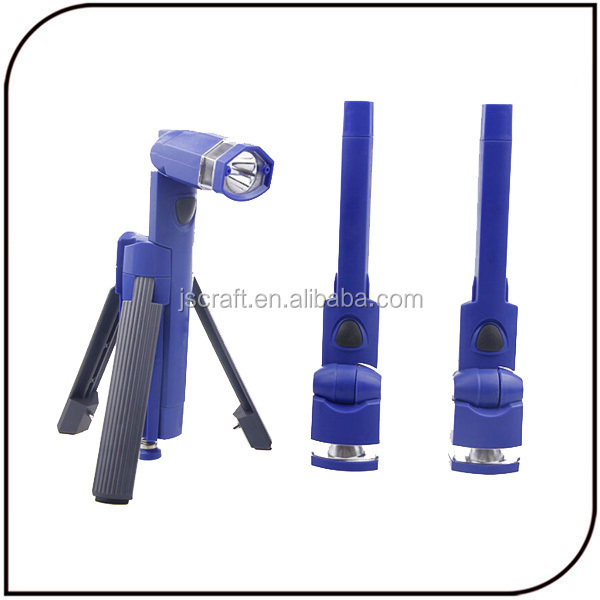 3 in 1 Hands Free Design Emergency Led Flashlight and Separates Into 3 Individual Flashlight 3 Led Tripod Torch