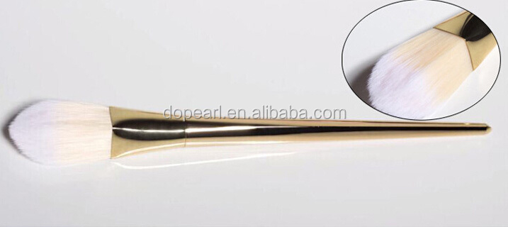 new makeup brush copper handle high quality synthetic makeup brushes