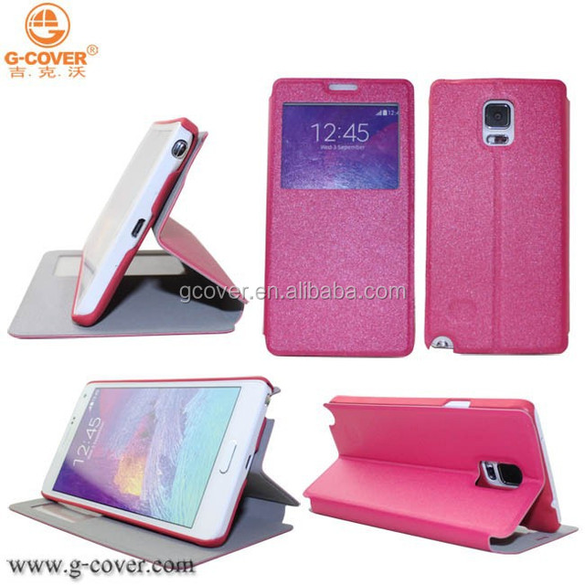 Latest design pu leather case for samsung note 4