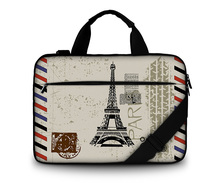 customizable canvas laptop bag make your own logo women messenger bags for 13.3 15.6 17.3 inch with shoulder strap + handle