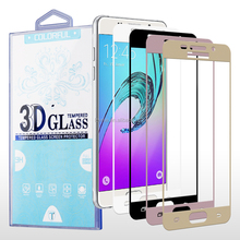 Chrome Printed Color 3D Full Screen 9H Tempered Glass Screen Protector for Samsung Galaxy A5 2016