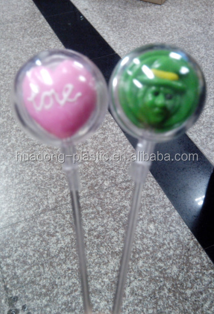 OEM PC high transparent lollipop sticks