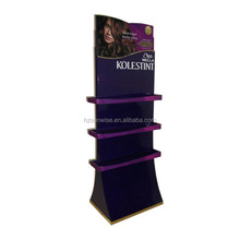 Custom size/logo/design retail promotional mdf shampoo display stand