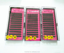 Premium silk Eyelash Extension In Korea Lashes Individual 0.05/0.07/0.10mm Synthetic Mixed Length in One tray