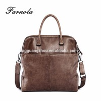 2017 hot sale genuine leather men's briefcase business bag