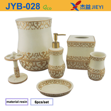 European style 6pcs resin bathroom set,bathroom accessory