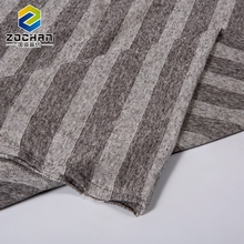 Linen Pique Polyester Rayon Fabric Black And White Stripe Cloth