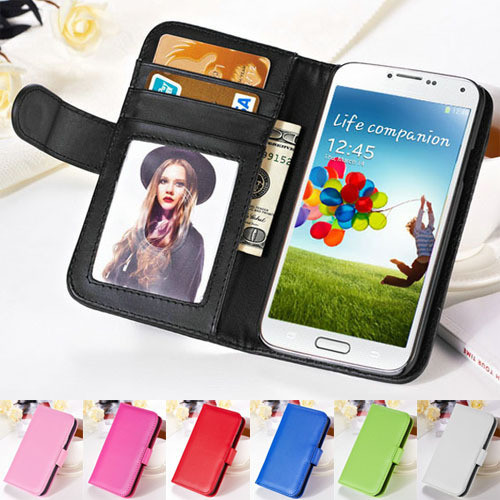 For Samsung Galaxy Note 2 Leather Case Wallet Stand Flip Cover With Photo Frame Card Slots
