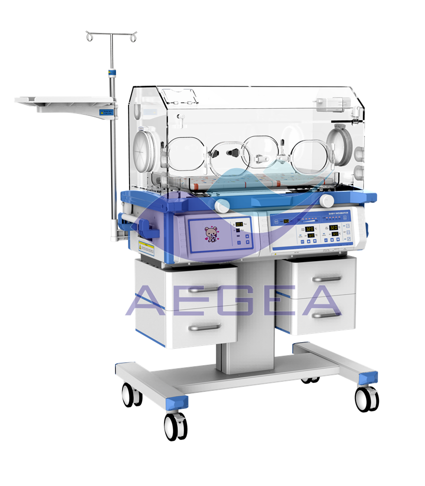 AG-IIR003B emergency care baby incubator for sale with castors