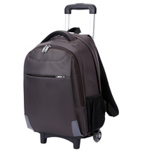 funky multifunction expandable trolley laptop backpack with detachable trolley wheels