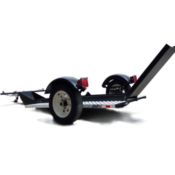 Single-Rail Folding Enclosed Motorcycle Pull Behind Utility Cargo Trailer