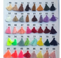 Wholesale High Quality Small Mini Chunky Colorful Silk Tassels For Jewelry Making Earrings Fringe Trim