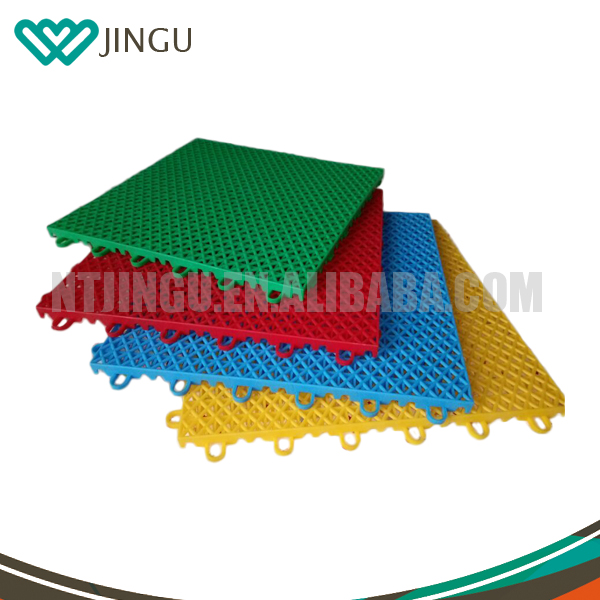 Safety Outdoor Interlocking Plastic Basketball Sport Court Floor Tile