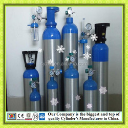 with BV CE top quality Medical Cylinder O2 oxygen Aluminum seamless gas