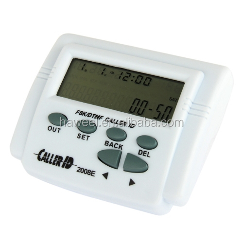 2.7 inch LCD Adjustable Screen FSK / DTMF Caller ID with Calendar Function(White)