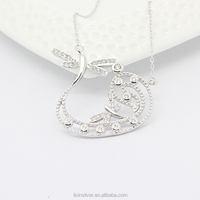 LIXIN SILVER 925 sterling mirco necklace dragonfly necklace (HX-X016ZE)