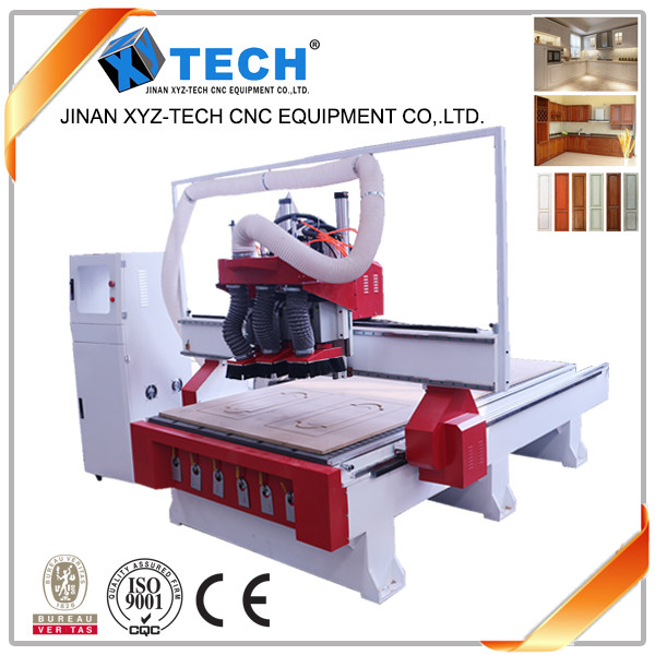 cnc router spindle motor XJ1325A-3S 3 Axis CNC Router of cnc router wood carving machine for sale