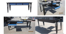 Heavy duty metal garage workshop steel tool storage work table
