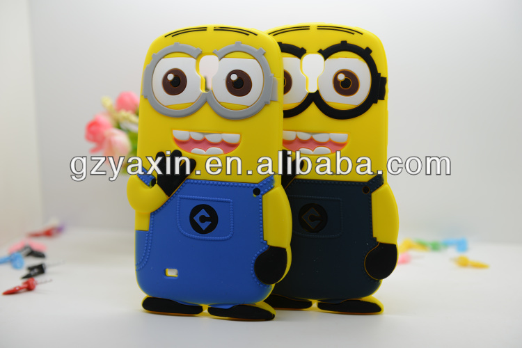 3D printing Despicable me 2 silicon case for Samsung Galaxy S4 minions cartoon case,despicable me minions back case for samsung