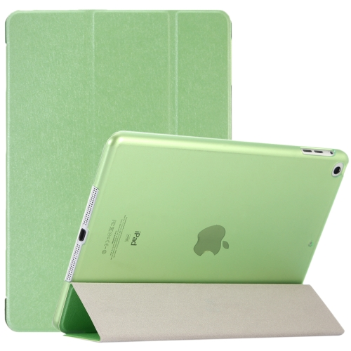 Alibaba Wholesale For <strong>iPad</strong> 9.7 inch (2017) & <strong>iPad</strong> Air Silk Texture Horizontal Flip Leather Case with Three-folding Holder