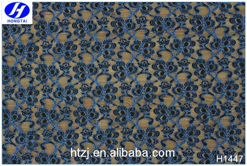 Hot Selling African Black Swiss Lace Fabric for Dresses, Wedding