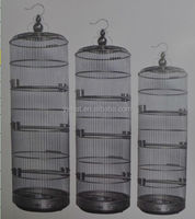 High round bird breeding cage made of stainless steel