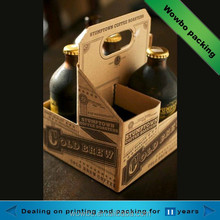 high quality printed corrugated paper beverage packing carton beer carrier