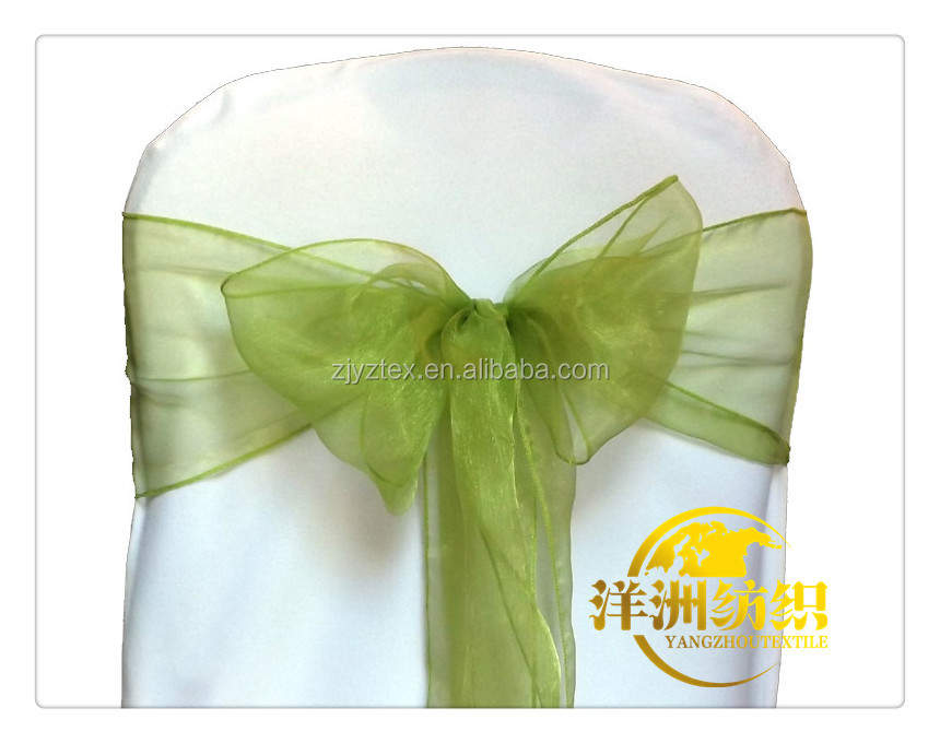 Good quanlity sheer organza chair sashes for wedding party banquet decoration
