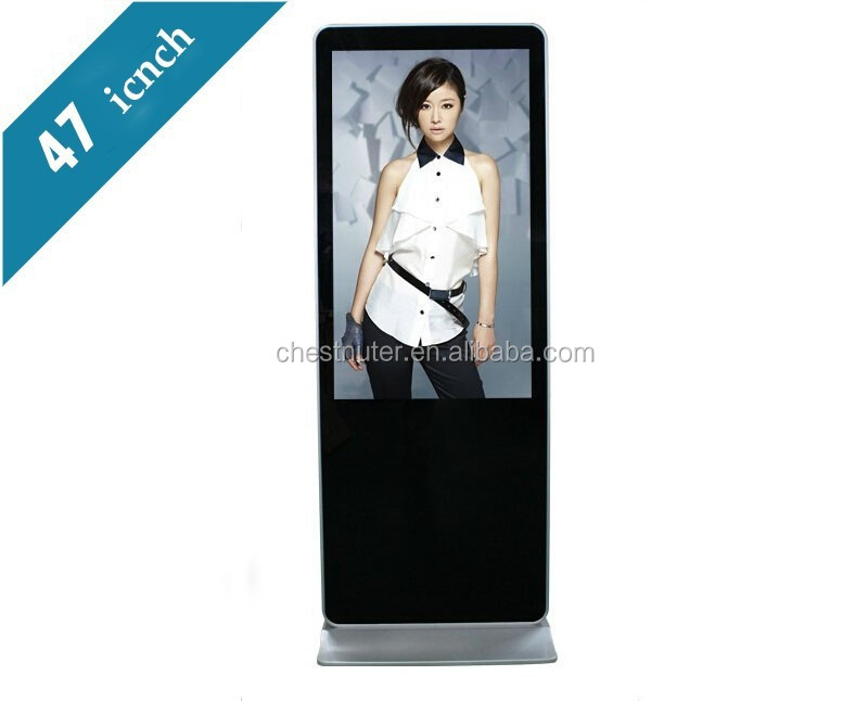 47 inch touch screen kiosk Floor Standing bus lcd advertising player