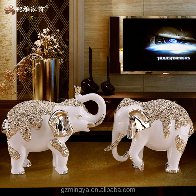Hot selling,small or large animal nice shape elegant design resin/fiberglass elephant statues for sale in gungzhou factory