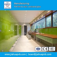 Tempered Laminated glass by PVB film for toilet cubicles partition