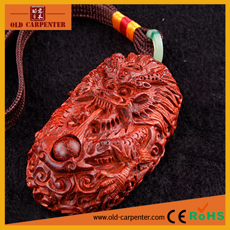 Chinese Flying Dragon hand massager home ornament wood carving craft