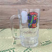 Clear Glassware with Patterned Bottom and Custom Printing