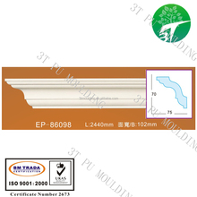 EP-86098 pu cornice foam polyurethane plastic ceiling wall decoration moulding