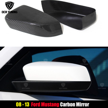 2008-2013 For Ford Mustang Carbon Fiber Mirror Cover Add On High Quality Carbon Fiber Sedan 4-Door Only