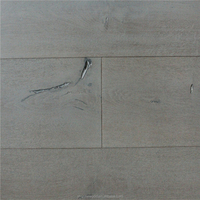 Cheap Prices Distressed Cracked Color Stained Antique Aged Oil Finished Wide Plank 4mm 6mm Veneer Oak Wood Flooring Manufactures
