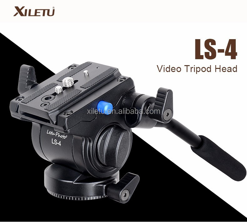XILETU LS-4 Handgrip Video Photography Fluid Drag Hydraulic Tripod Head and Quick Release Plate For ARCA-SWISS Manfrotto