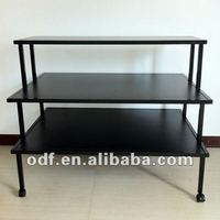 3 Tier Rolling Retail Clothing Display Table with Casters or Levelers
